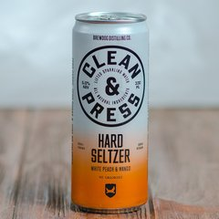 BrewDog Clean & Press Hard Seltzer White Peach & Mango