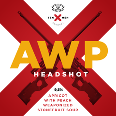 Ten Men x BeerFreak AWP HEADSHOT: APRICOT WITH PEACH WEAPONIZED STONEFRUIT SOUR, 1 л